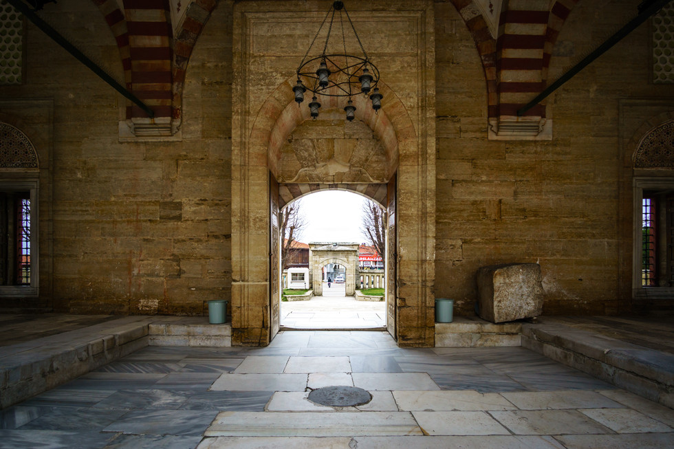 Selimiye Mosque - view of outer entrance from inside