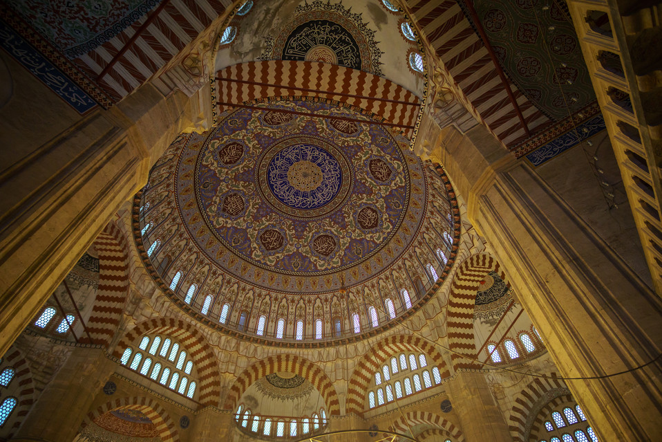 Selimiye Mosque - Inner view of the Dome
