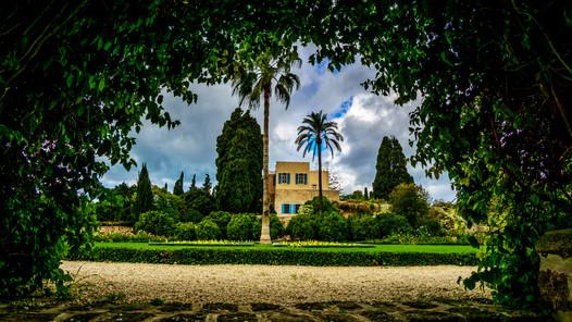 Vista de jardiens y Mansion