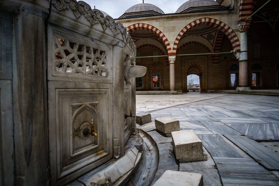 Ablution fountain at the mosque