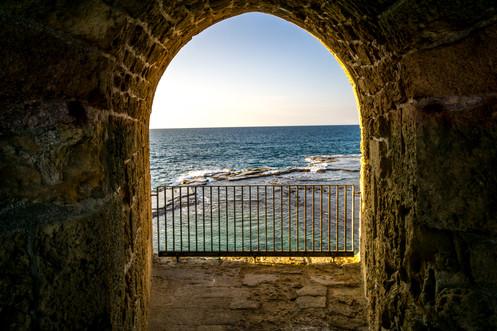 Vista del mare dalla Citta' Vecchia
