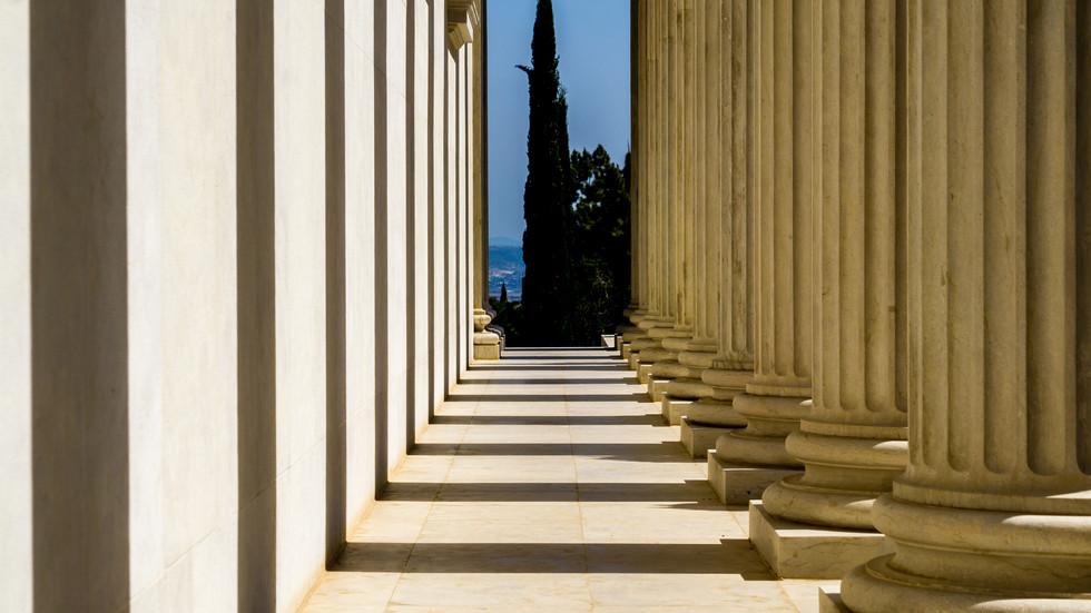 Corredor en el edificio de los Archivos