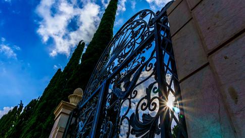Cancello sui giardini