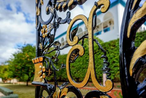 Puerta decorando los alrededores de la Mansion