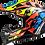 Thumbnail: RASCAL - GLOSS BLACK/FLUO ORANGE/BLUE - Subverter EVO