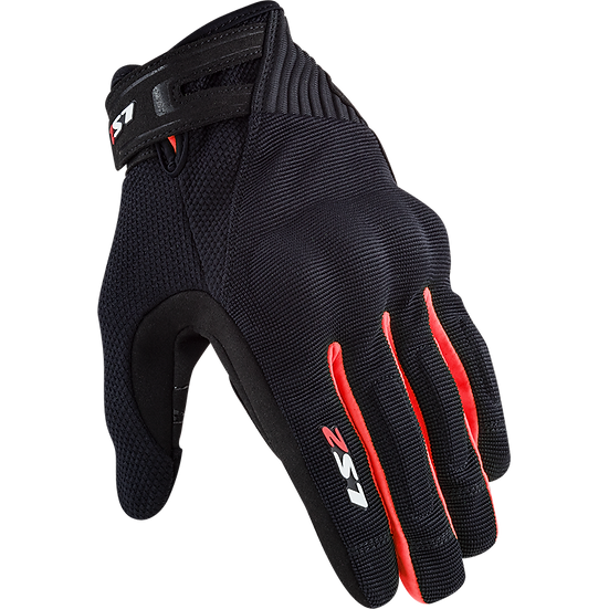 DART II - BLACK RED - Men's Touring Gloves