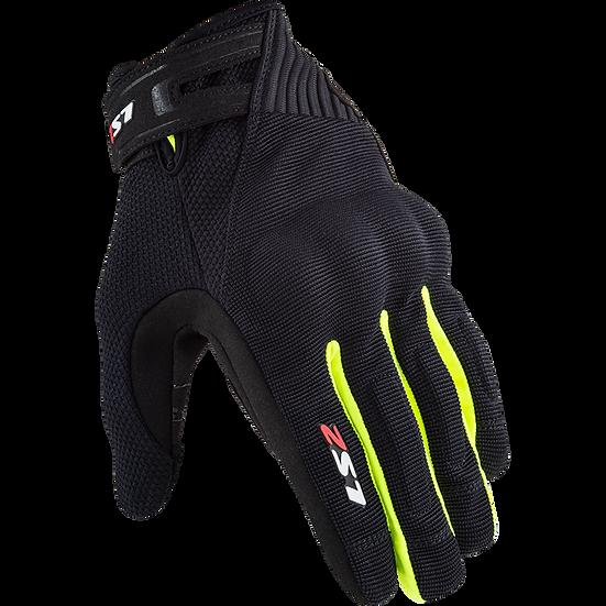 DART II - BLACK HV YLW - Men's Touring Gloves