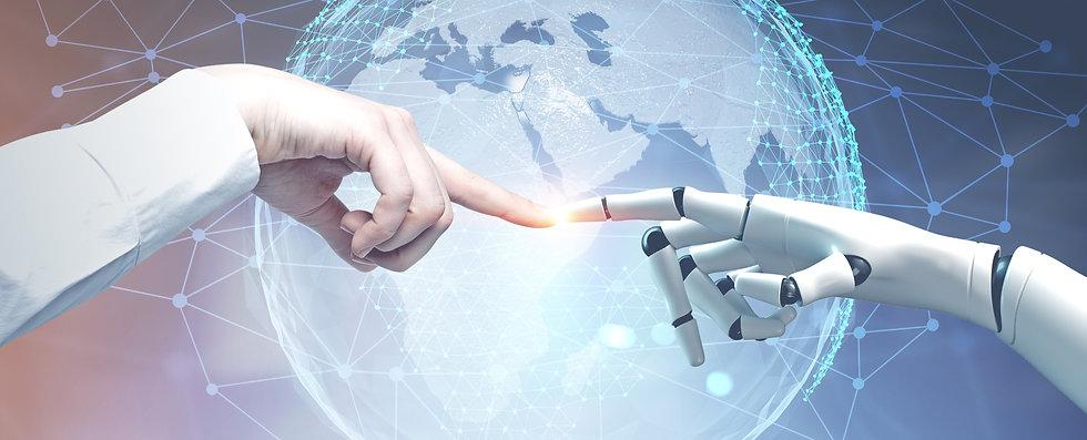 bigstock-Human-And-Robot-Hands-Reaching-