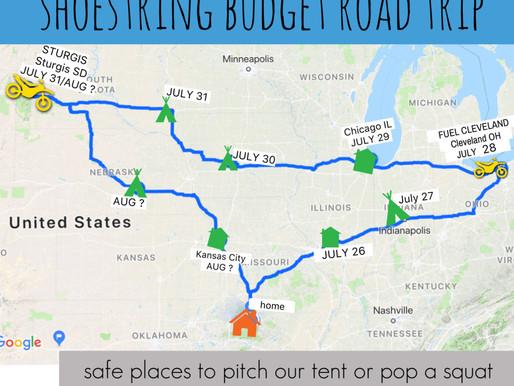Shoe String Budget Road Trip part 1