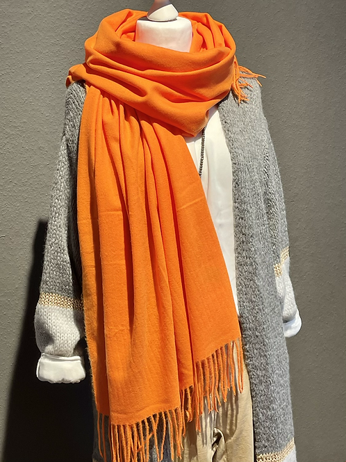 Traum-Kuschelschal  - Orange