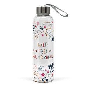 """Wasserflasche """"Wild, frei und wundervoll"""""""