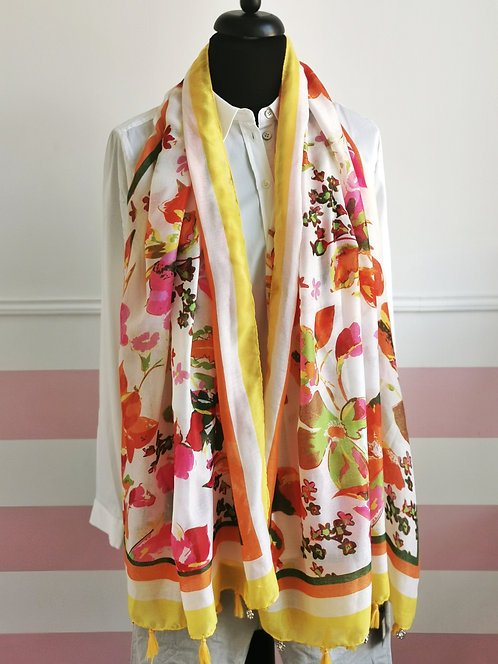 NEU Fröhlich sommerliches Tuch mit gelb