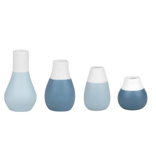 RÄDER - Minipastellvasen - Blautöne - 4er Set