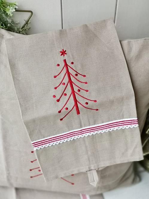 """Küchenhandtuch """"Roter Tannenbaum"""""""