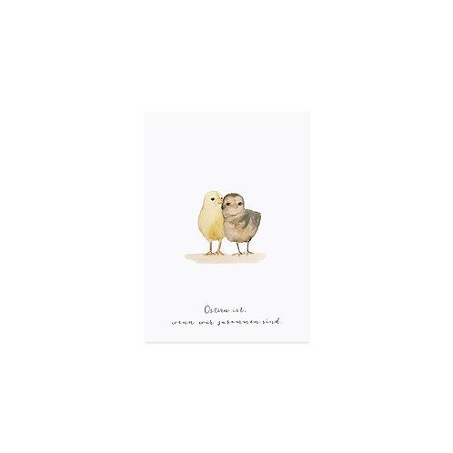 Postkarte von Eulenschnitt - Osterkücken
