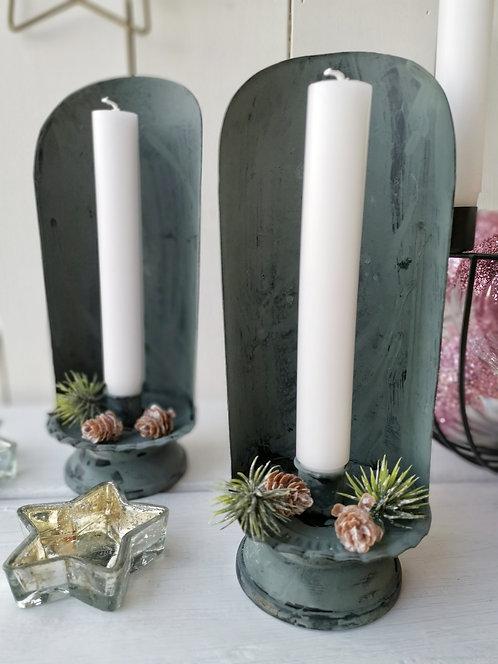 Zink Kerzenhalter wie früher