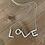 Thumbnail: Sence - Silberne Kette mit LOVE-Anhänger