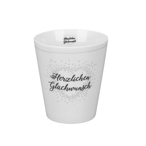 """""""Herzlichen Glückwunsch""""-Tasse von Krasilninikoff"""