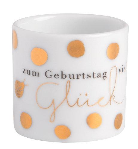 """RÄDER - Kleines Windlicht """"Zum Geburtstag viel Glück"""""""