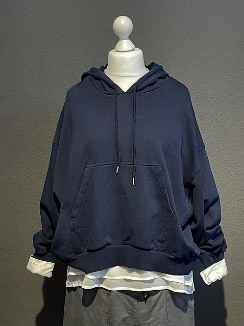 Kuschel-Sweatshirt - KURZ Blau