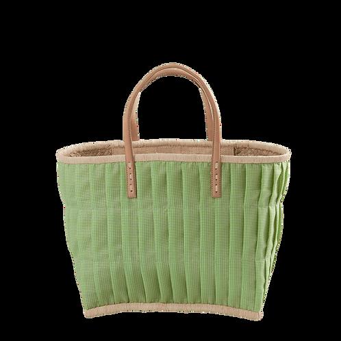 Rice - Einkaufskorb, Apfelgrün, Vichy - Klein