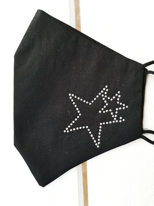 Mund-Nasen-Schutz - Sterne Glitzersteinchen