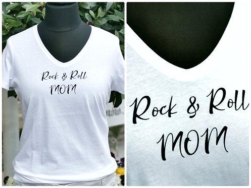 "T-Shirt ""Rock'n Roll-Mum"" Gr. 3 Reinweiß"