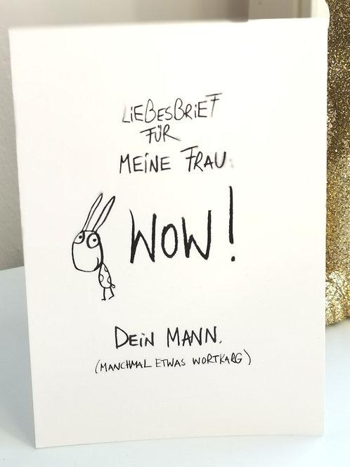 """Postkarte """"Liebesbrief für meine Frau ..."""""""