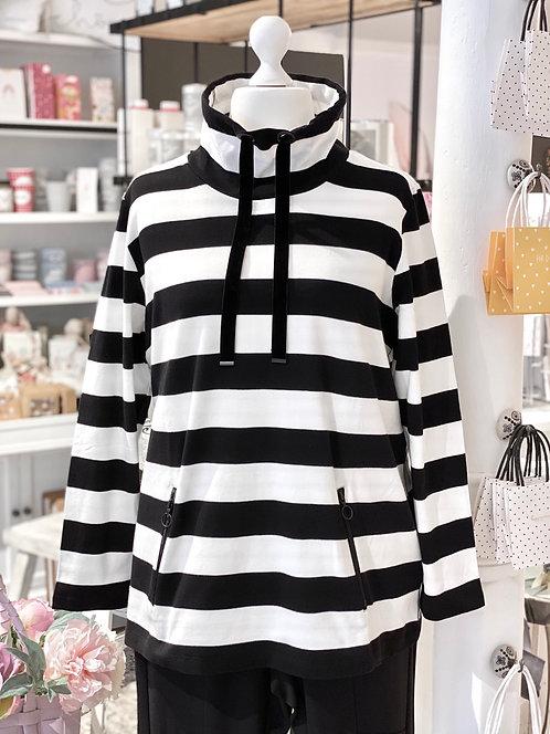 Frapp - Modisches Stehkragen-Sweatshirt mit Streifen