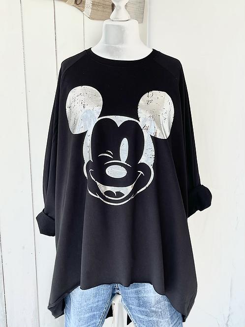 Oversized-Sweatshirt - Mit Mickey - Schwarz