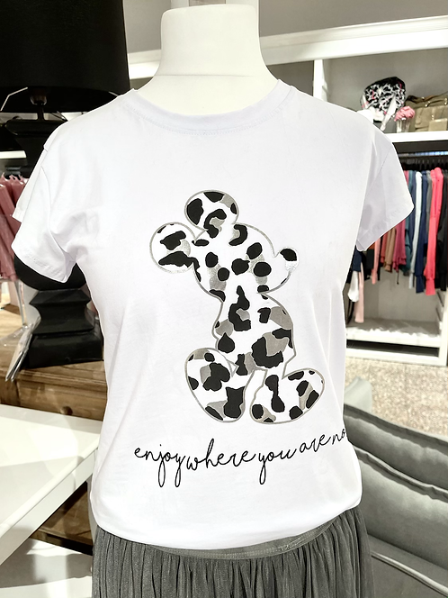 T-Shirt mit Mickey Mouse