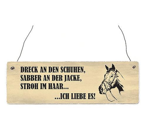 """Schild """"Dreck an den Schuhen..."""""""