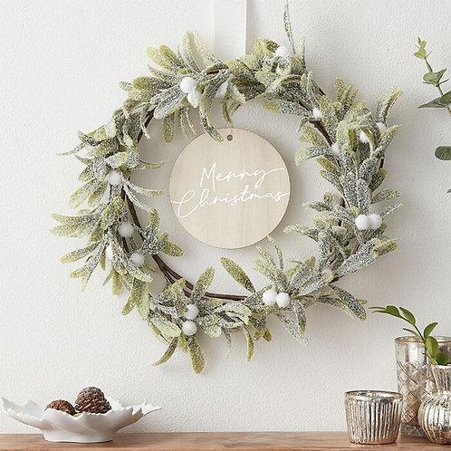 "Mistletoe-Kranz ""Merry Christmas"""