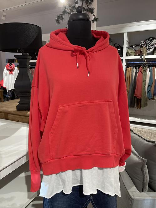 Kuschel-Sweatshirt - KURZ Rot