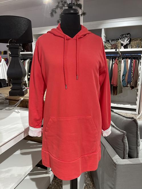 Kuschel-Sweatshirt - LANG Rot