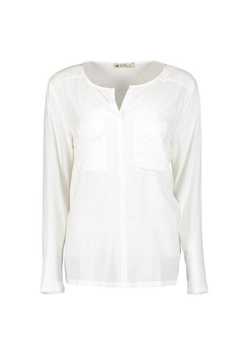 Suza - Offwhite leichte Bluse