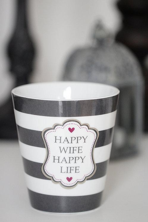 "Mug von Krasilnikoff ""Happy wife - happy life"""