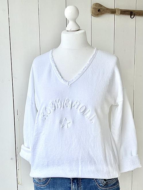 Sweatshirt - Rock'n'Roll - Weiß