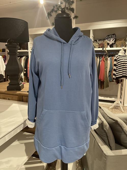 Kuschel-Sweatshirt - LANG Jeansblau