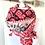 Thumbnail: Wunderschönes Tuch - Rot mit rosa Rand und Quasten
