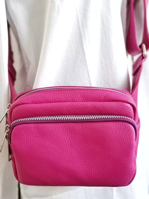 "Crossbody-Tasche ""Dunkles Pink"""
