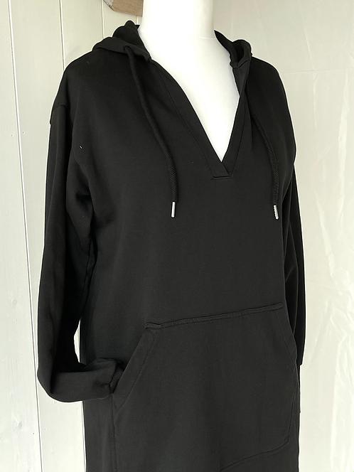 Sweatshirt - V-Ausschnitt - Schwarz