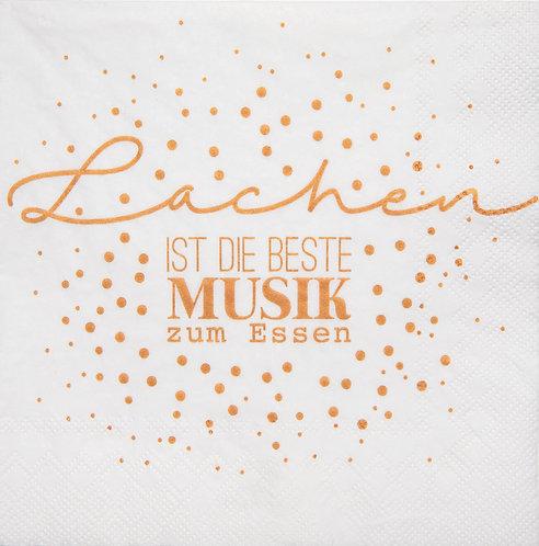 """RÄDER - Servietten """"Lachen ist die beste Musik... """""""