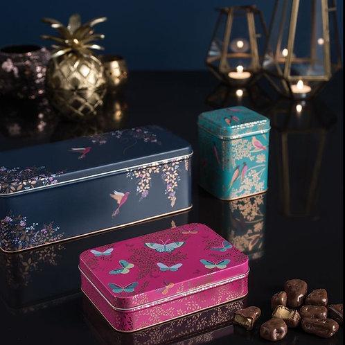 Metall-Dose von Sara Miller, pink mit Schmetterlingen