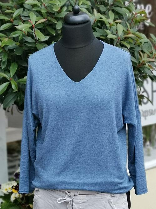 Festes Shirt Blau - One Size
