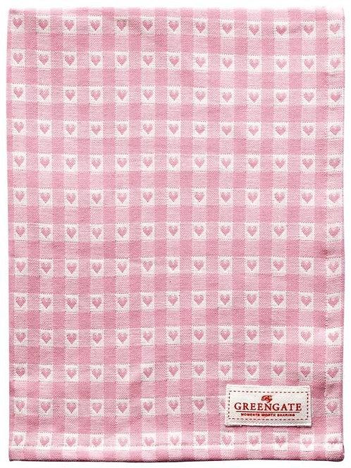 Greengate Geschirrtuch - Heart, Petite Pink