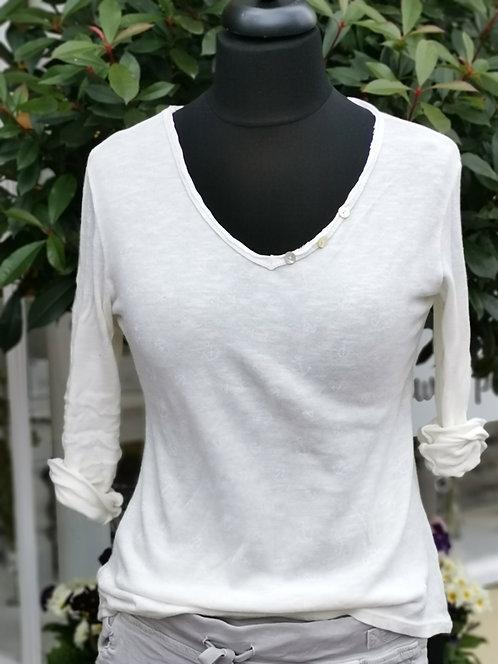 Weißes Shirt mit Ankern - One Size