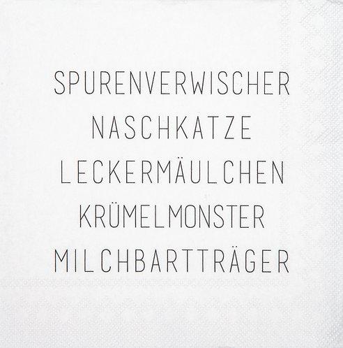 """RÄDER - Servietten """"Spurenverwischer"""" - Klein"""