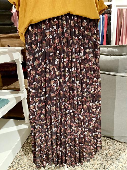 Faltenrock mit kleinen Blättern
