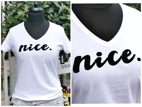 "T-Shirt ""Nice"" Gr. 1 Old White"